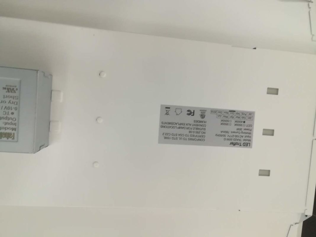 Suspended Indoor 600x1200mm Recessed Troffer Fixtures 7800lm High Output